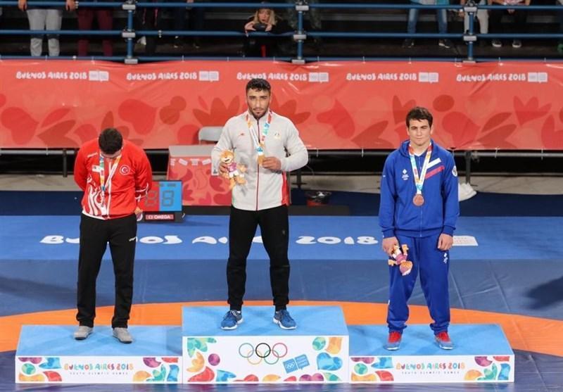 المپیک جوانان 2018، محمد نصرتی و امیر ده بزرگی در کشتی فرنگی به مدال طلا رسیدند