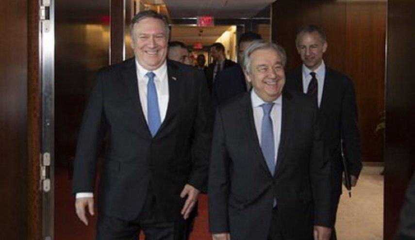 دیدار پمپئو با دبیر کل سازمان ملل