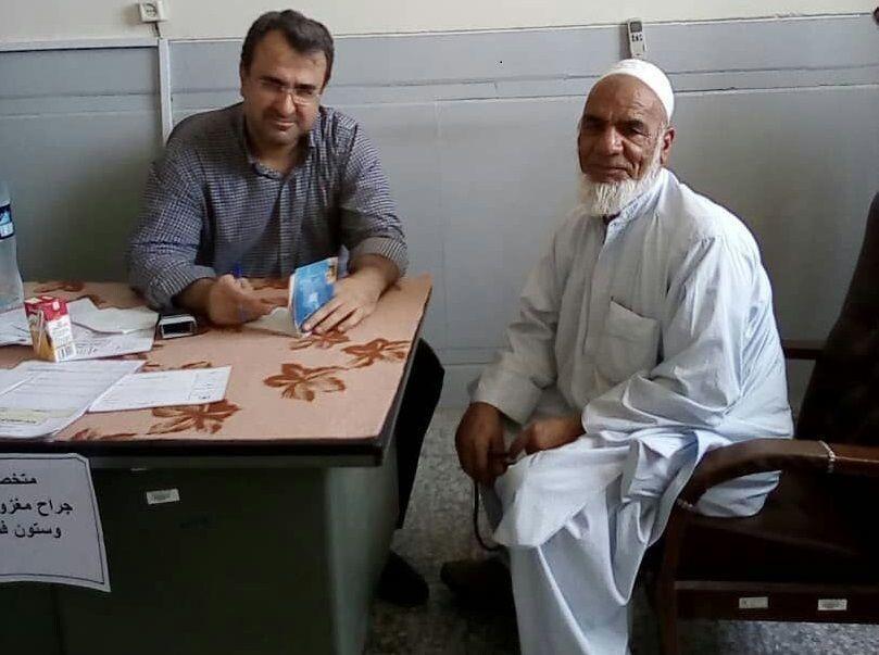 ویزیت رایگان حدود 500 نفر در روستای کلینک ایرانشهر