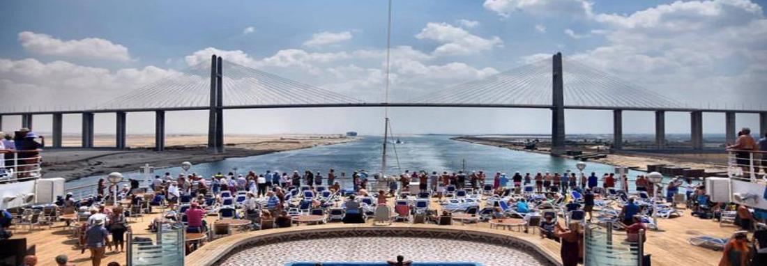 ردپای داریوش هخامنشی در تور گردشگران کانال سوئز ، جولان تماشایی کشتی های کروز در کانال سوئز