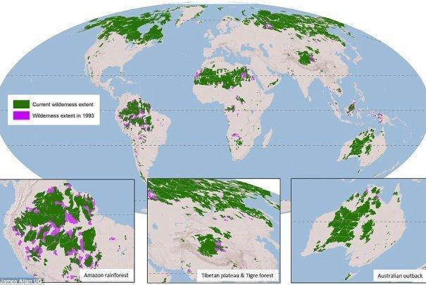 حجم طبیعت کره زمین 10 درصد کاهش یافت