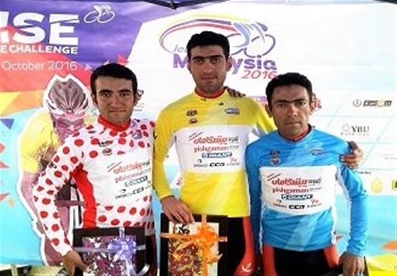 درخشش رکابزنان ایران در مرحله دوم، پیراهن طلایی بر تن معظمی