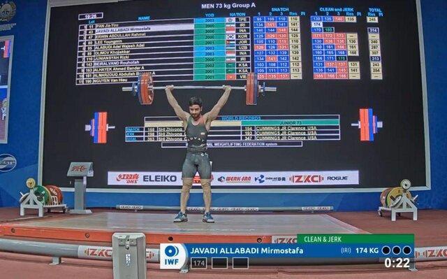 وزنه برداری قهرمانی جوانان آسیا، نقره و برنز دسته 73 کیلوگرم به ایران رسید
