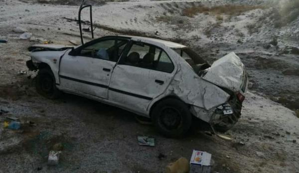 واژگونی مرگبار سمند در محور قوچان- چناران، دو مصدوم و یک کشته در پی داشت