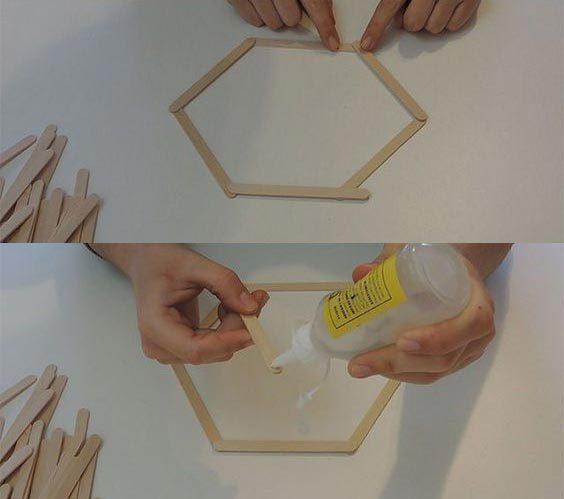 ساخت کاردستی با چوب بستنی های ساده
