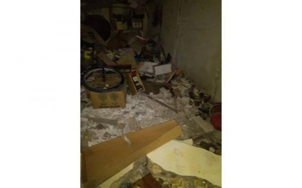 انفجار جزئی در ساختمان مسکونی خیابان شهید آیت