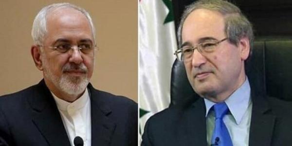 تاکید ظریف بر تداوم حمایت های ایران از سوریه