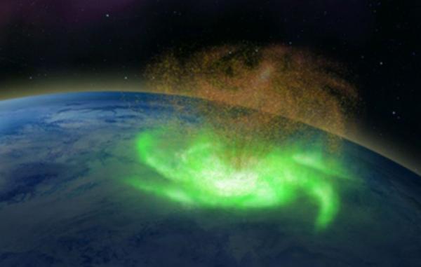 دانشمندان یک طوفان چرخشی فضایی را بر فراز قطب شمال شناسایی کردند
