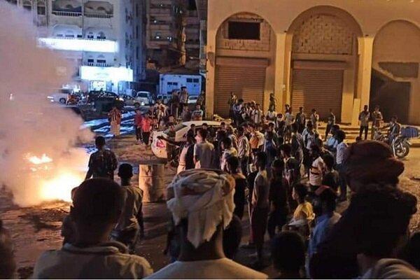 تظاهرات یمنی ها علیه عناصر وابسته به ریاض و ابوظبی شدت گرفت