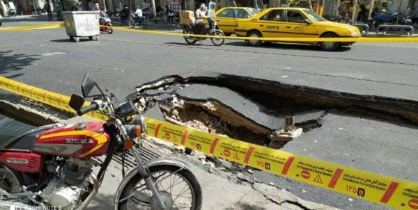 نشست وحشتناک زمین در تهران