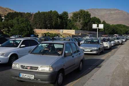 ترافیک سنگین در محور کندوان و جاده تهران - فشم ، بارش پراکنده باران در بعضی از محورهای 4 استان
