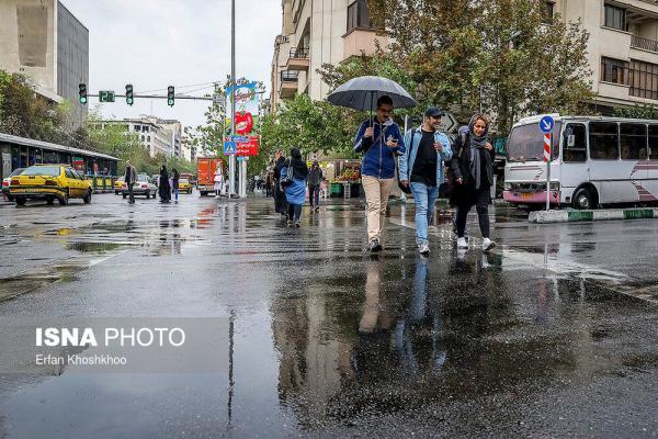 باران بهاری و باد شدید موقت در بسیاری از استان ها