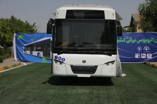 (تصاویر و ویدئو) رونمایی رسمی از نخستین اتوبوس برقی ساخت ایران با نام شتاب