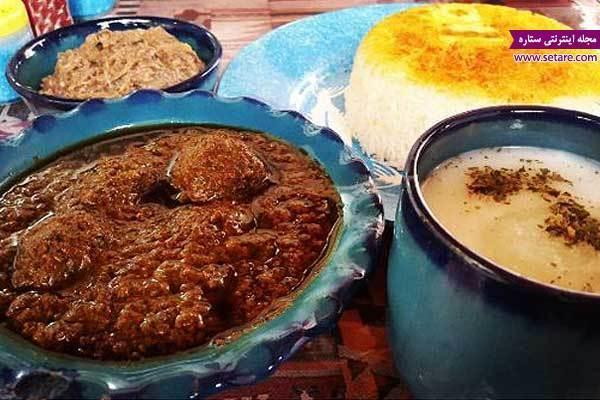 طرز تهیه خورش انار بیج گیلانی (انار آویج یا سبزی فسنجان)