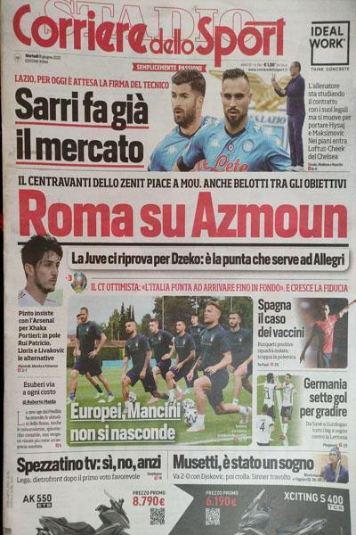 گزارش مفصل روزنامه ایتالیایی از پیوستن سردار آزمون به رم (عکس)
