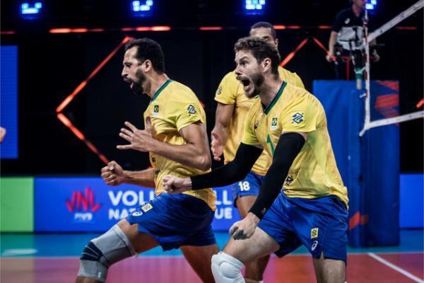 برزیل مقتدرانه قهرمان لیگ ملت های والیبال شد، لهستان زانو زد